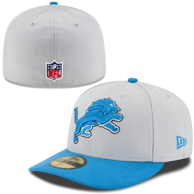 Detroit Lions New Era On-Field Low Crown 59FIFTY Fitted Hat - Gray/Light Blue