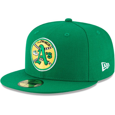 Oakland Athletics New Era Cooperstown Collection Wool 59FIFTY Fitted Hat - Green