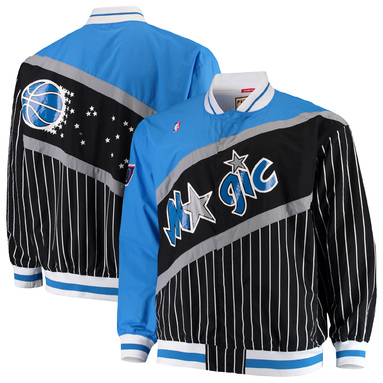 Orlando Magic Mitchell & Ness Big & Tall Authentic Warm-Up Jacket - Black