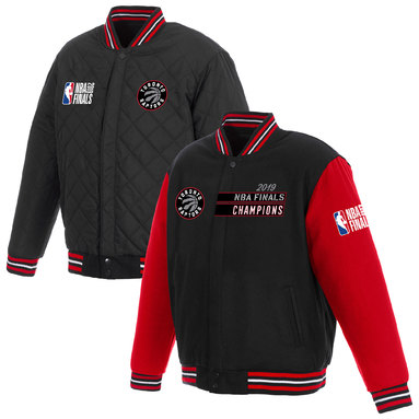 Toronto Raptors JH Design 2019 NBA Finals Champions Reversible Two-Toned Wool Jacket - Black/Red
