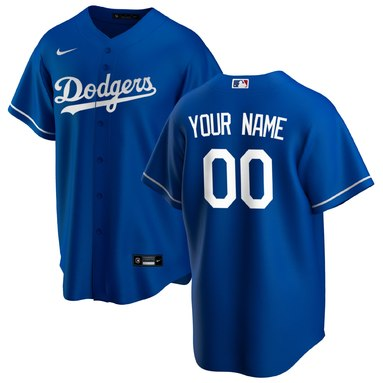 Los Angeles Dodgers Nike Alternate 2020 Replica Custom Jersey - Royal