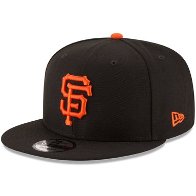 San Francisco Giants New Era Team Color 9FIFTY Snapback Hat - Black