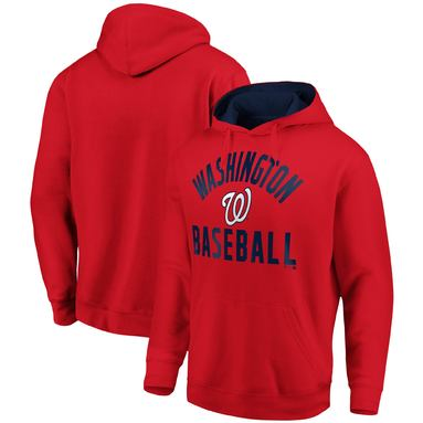Washington Nationals Fanatics Branded Team Pride Pullover Hoodie - Red/Navy