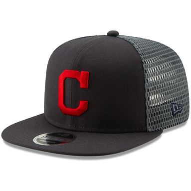 Cleveland Indians New Era Mesh Fresh 9FIFTY Adjustable Snapback Hat - Graphite