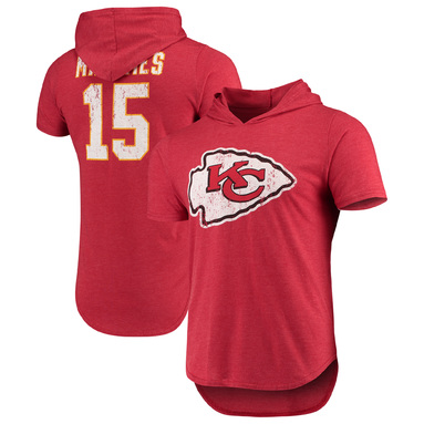 Patrick Mahomes Kansas City Chiefs Majestic Threads Hooded Name & Number Tri-Blend T-Shirt – Red