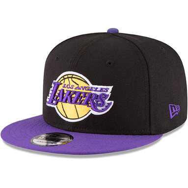 Los Angeles Lakers New Era 2-Tone 9FIFTY Adjustable Snapback Hat - Black/Purple