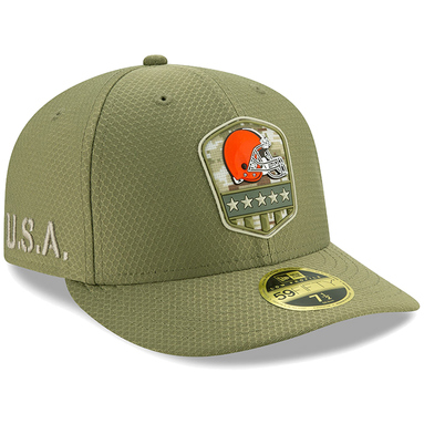 Cleveland Browns New Era 2019 Salute to Service Sideline Low Profile 59FIFTY Fitted Hat - Olive