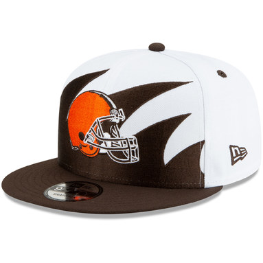 Cleveland Browns New Era Vintage Sharktooth 9FIFTY Adjustable Hat - White/Brown