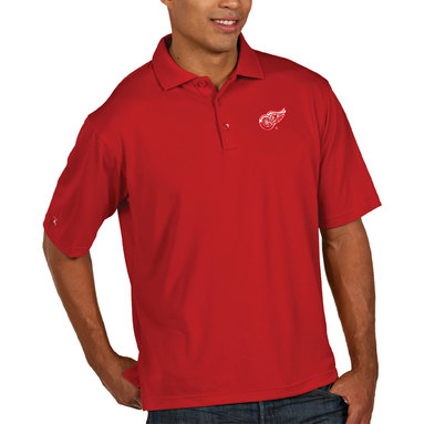 Detroit Red Wings Antigua Pique Xtra Lite Big & Tall Polo - Red