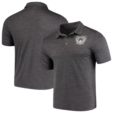 Oakland Raiders Majestic Iconic Retro Positive Production Polo - Gray
