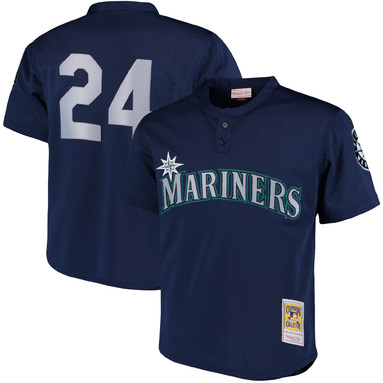 Ken Griffey Jr. Seattle Mariners Mitchell & Ness Cooperstown Collection Mesh Batting Practice Jersey - Navy