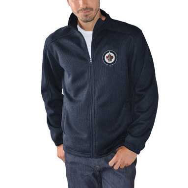 Winnipeg Jets G-III Sports by Carl Banks Audible Full-Zip Jacket – Navy