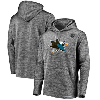 San Jose Sharks Fanatics Branded 2019 Stanley Cup Playoffs Bound Authentic Pro Pullover Hoodie - Charcoal