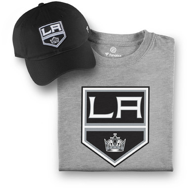 Los Angeles Kings Fanatics Branded T-Shirt and Hat Bundle - Black/Gray