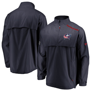 Columbus Blue Jackets Fanatics Branded Authentic Pro Rinkside Full-Zip Jacket - Navy/Red