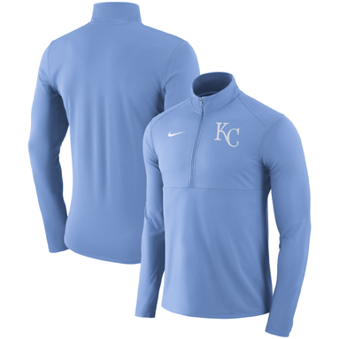 Kansas City Royals Nike Dry Element Half-Zip Performance Pullover – Light Blue