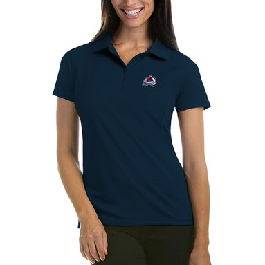 Colorado Avalanche Antigua Women's Pique Performance Polo - Navy