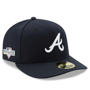 Atlanta Braves New Era 2019 Postseason Road Side Patch Low Profile 59FIFTY Fitted Hat - Navy