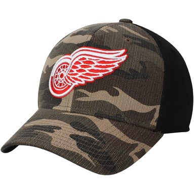 Detroit Red Wings adidas Adjustable Hat - Camo/Black