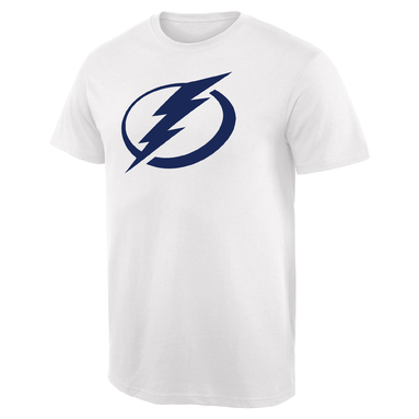 Tampa Bay Lightning Team Primary Logo T-Shirt - White