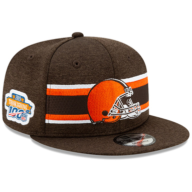 Cleveland Browns New Era 2019 Thanksgiving Sideline 9FIFTY Snapback Adjustable Hat - Brown