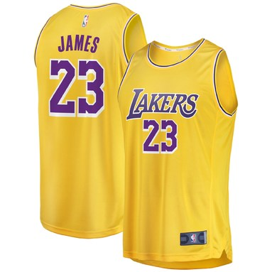 LeBron James Los Angeles Lakers Fanatics Branded 2019/20 Fast Break Replica Jersey Gold - Icon Edition