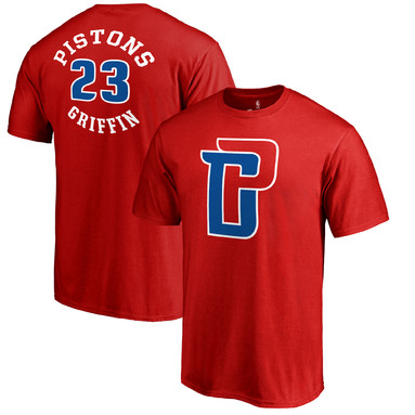 Blake Griffin Detroit Pistons Fanatics Branded Round About Name & Number T-Shirt – Red