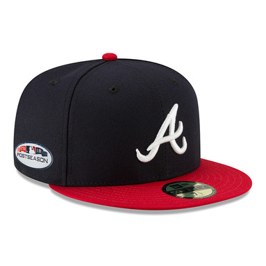 Atlanta Braves New Era 2018 Postseason Side Patch 59FIFTY Fitted Hat – Navy