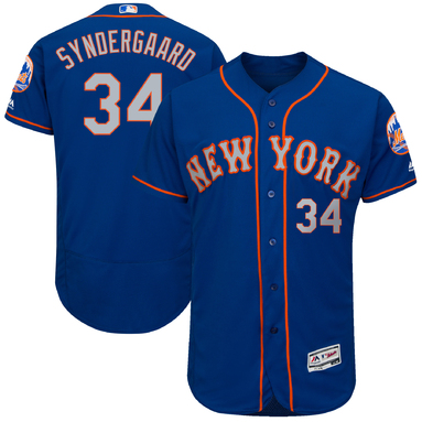 Noah Syndergaard New York Mets Majestic 2017 Alternate Authentic Collection Flex Base Jersey - Royal/Gray
