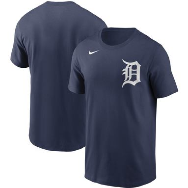 Detroit Tigers Nike Team Wordmark T-Shirt - Navy