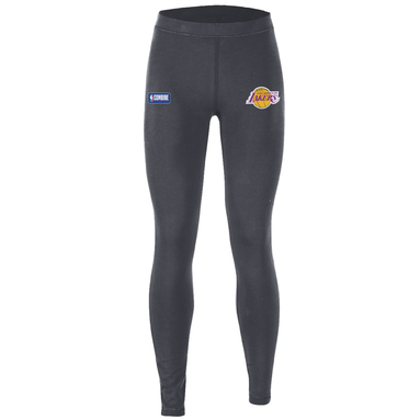 Los Angeles Lakers Under Armour Women's Combine Authentic Favorites Performance Leggings - Heathered Charcoal