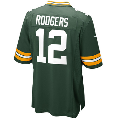 Aaron Rodgers Green Bay Packers Nike Game Jersey - Green картинка