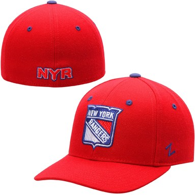 New York Rangers Zephyr Crosscheck Fitted Hat - Red