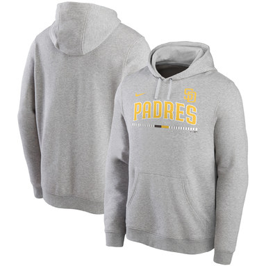 San Diego Padres Nike Color Bar Club Pullover Hoodie - Gray