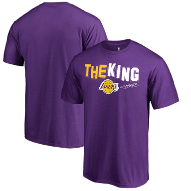 LeBron James Los Angeles Lakers Fanatics Branded Hometown Collection Hollywood King T-Shirt – Purple