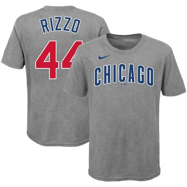 Anthony Rizzo Chicago Cubs Nike Youth Player Name & Number T-Shirt - Heathered Gray