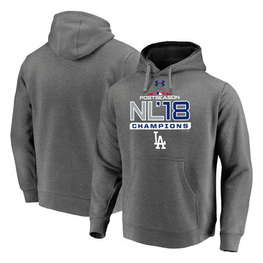 Los Angeles Dodgers Under Armour 2018 National League Champions Our Year Pullover Hoodie – Heather Gray