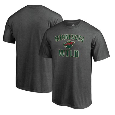 Minnesota Wild Fanatics Branded Team Victory Arch T-Shirt - Heathered Charcoal