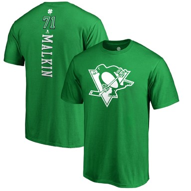 Evgeni Malkin Pittsburgh Penguins Fanatics Branded St. Patrick's Day Backer Name & Number T-Shirt - Kelly Green