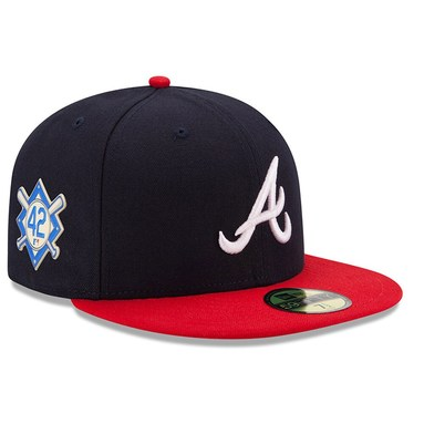 Atlanta Braves New Era Jackie Robinson Day 59FIFTY Fitted Hat - Navy