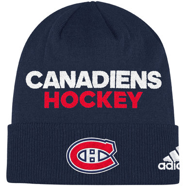Montreal Canadiens adidas Locker Room Cuffed Knit Hat - Navy