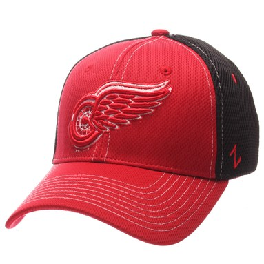 Detroit Red Wings Zephyr Rally Spacer Mesh Flex Hat - Red/Black