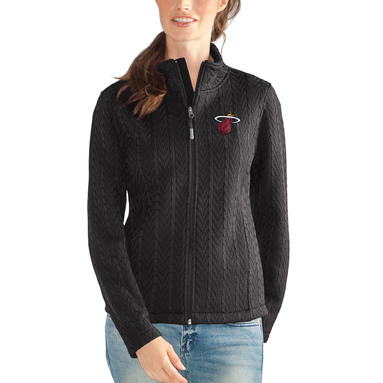 Miami Heat G-III 4Her by Carl Banks Women's Crossover Full-Zip Jacket – Black