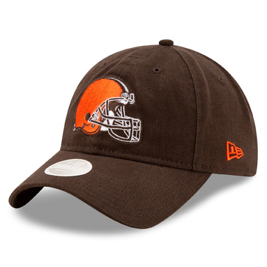 Cleveland Browns New Era Women's Core Classic Primary 9TWENTY Adjustable Hat - Brown