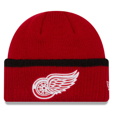 Detroit Red Wings New Era Ribbed Up Team Cuffed Knit Hat Knit Beanie - Red