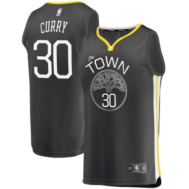 Stephen Curry Golden State Warriors Fanatics Branded Fast Break Replica Player Jersey Charcoal - Statement Edition