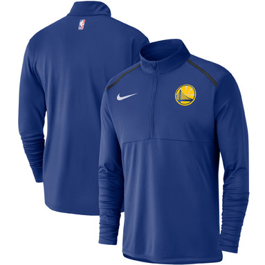 Golden State Warriors Nike Element Performance Half-Zip Pullover Jacket - Royal