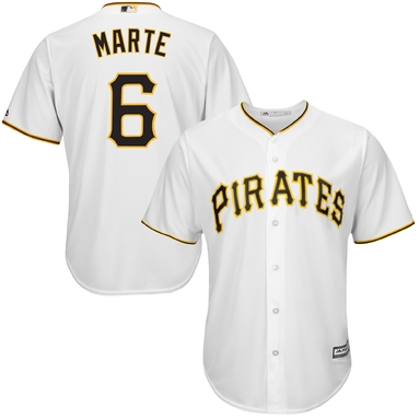 Starling Marte Pittsburgh Pirates Majestic Cool Base Player Jersey - White