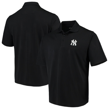 New York Yankees Antigua Pique Xtra Lite Polo - Black