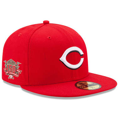 Cincinnati Reds New Era 150th Anniversary Authentic Collection On-Field 59FIFTY Fitted Hat – Red